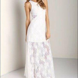 Nightcap Free People BLACK Lace Cutout Maxi Dress